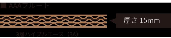 3層ハイプルエースの側面(厚さ15mm)